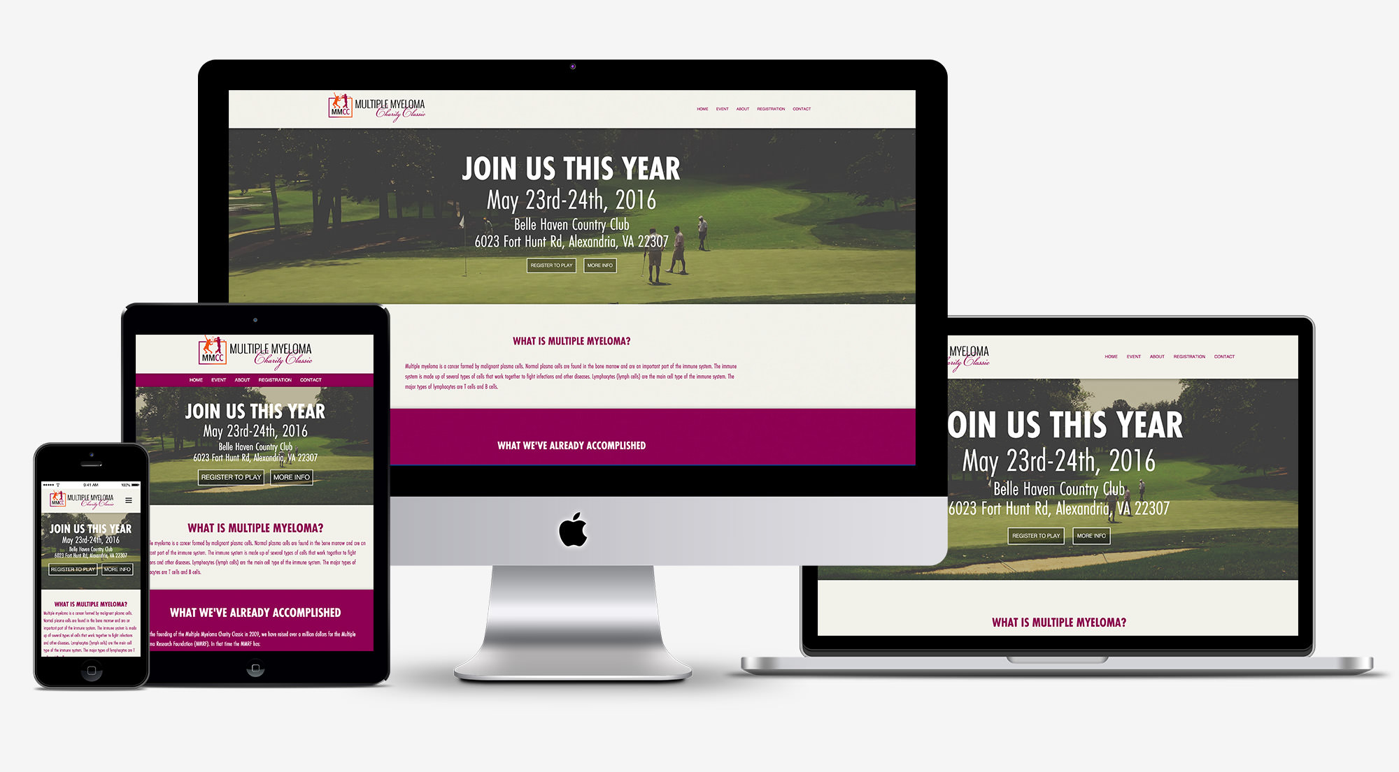 Multiple Myeloma Charity Classic Website
